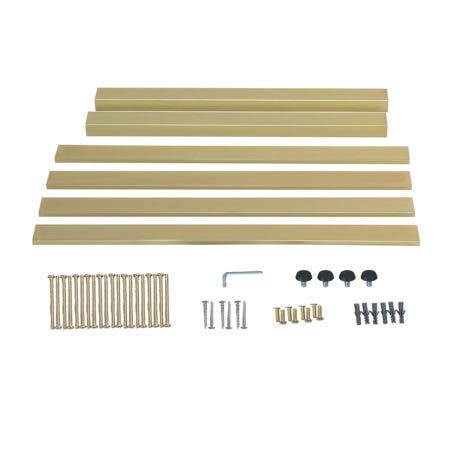 Kingston Brass VSP2522H7 Fauceture Bar Shelf for 25-Inch Console Sink, Brushed Brass