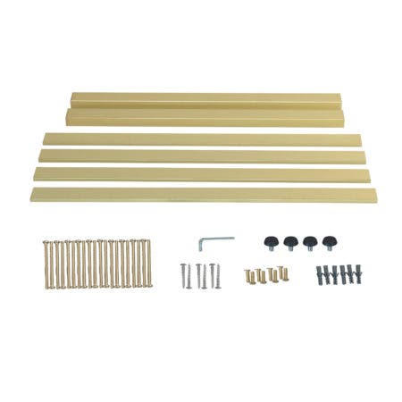 Kingston Brass VSP3122H7 Fauceture Bar Shelf for 31-Inch Console Sink, Brushed Brass
