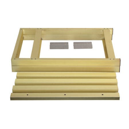 Kingston Brass VSP3122P7 Fauceture 31-Inch Console Sink Base Tube, Brushed Brass