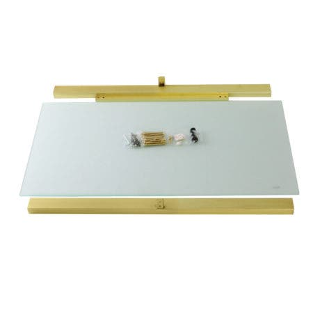 Kingston Brass VSP3722G7 Fauceture Glass Shelf for 37-Inch Console Sink Base, Clear Glass/Brushed Brass