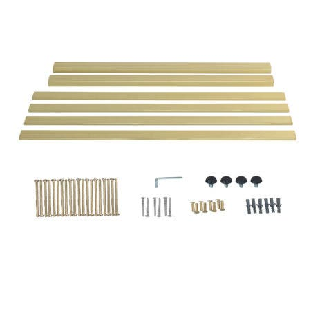 Kingston Brass VSP3722H7 Fauceture Bar Shelf for 37-Inch Console Sink, Brushed Brass