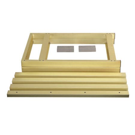 Kingston Brass VSP3722P7 Fauceture 37-Inch Console Sink Base Tube, Brushed Brass