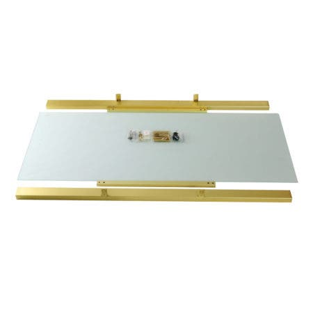 Kingston Brass VSP4922G7 Fauceture Glass Shelf for 49-Inch Console Sink Base, Clear Glass/Brushed Brass