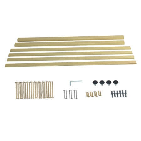 Kingston Brass VSP4922H7 Fauceture Bar Shelf for 49-Inch Console Sink, Brushed Brass