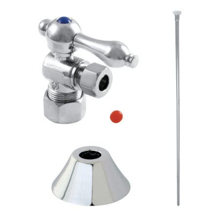 Kingston Brass CC53301TKF20 Traditional Plumbing Toilet Trim Kit, Polished Chrome