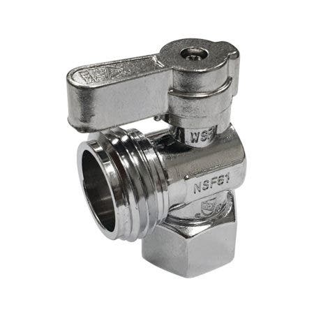 "1/2"" FIP x 3/4"" Hose Thread Angle Shut Off Valve"