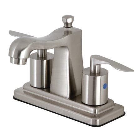 Kingston Brass FB4648SVL Serena 4-Inch Centerset Bathroom Faucet with Retail Pop-Up, Brushed Nickel