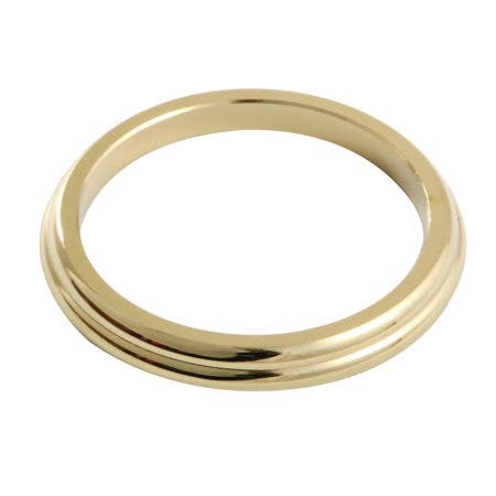 Kingston Brass KCSF362 Spout Flange for KC362 364, Polished Brass
