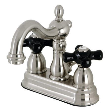 Kingston Brass KB1608PKX 4 in. Centerset Bathroom Faucet, Brushed Nickel