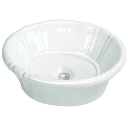 Fauceture EV18157 Vintage Vitreous China Drop-in Bathroom Sink, White