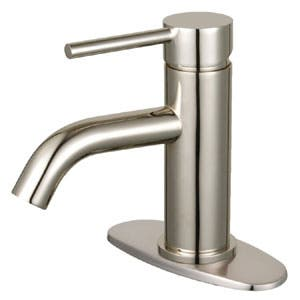 Fauceture LSF8228DL Concord Single-Handle Bathroom Faucet with Push Pop-Up Drain, Brushed Nickel