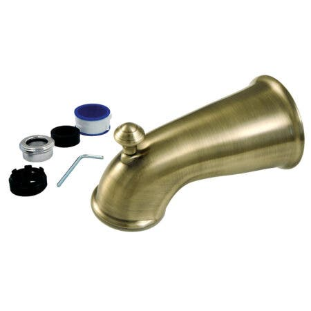 Kingston Brass K1275A3 6 in. Universal Tub Spout with Diverter, Antique Brass