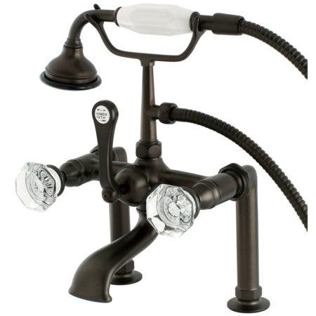 Aqua Vintage AE103T5WCL Celebrity Deck Mount Clawfoot Tub Faucet, Oil Rubbed Bronze
