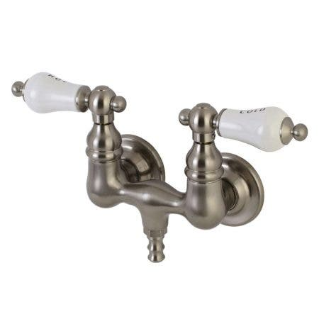 Aqua Vintage AE33T8 Vintage 3-3/8 Inch Wall Mount Tub Faucet, Brushed Nickel