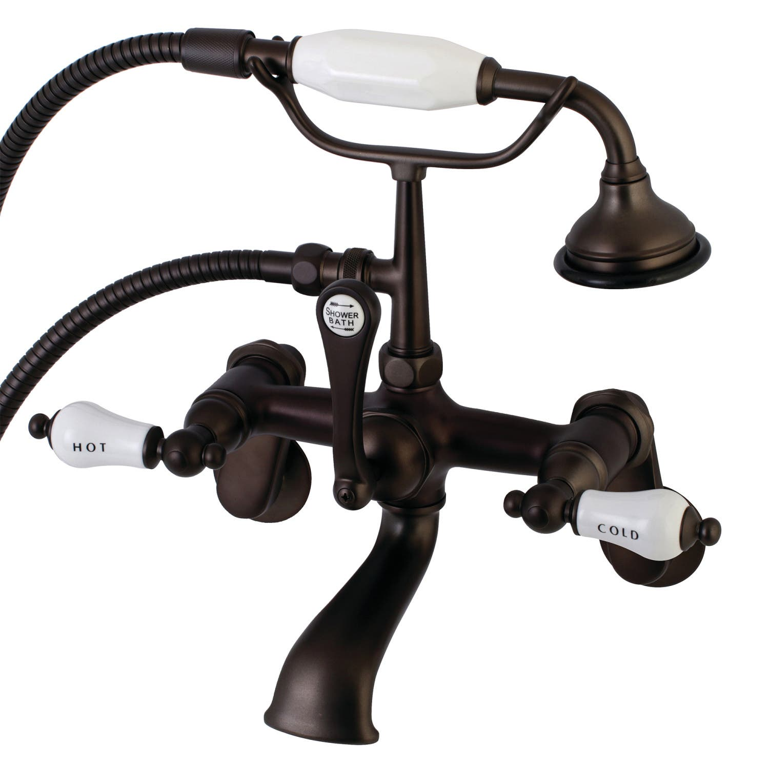 Aqua Vintage AE53T5 Clawfoot Tub Faucet with Hand Shower, Oil Rubbed ...