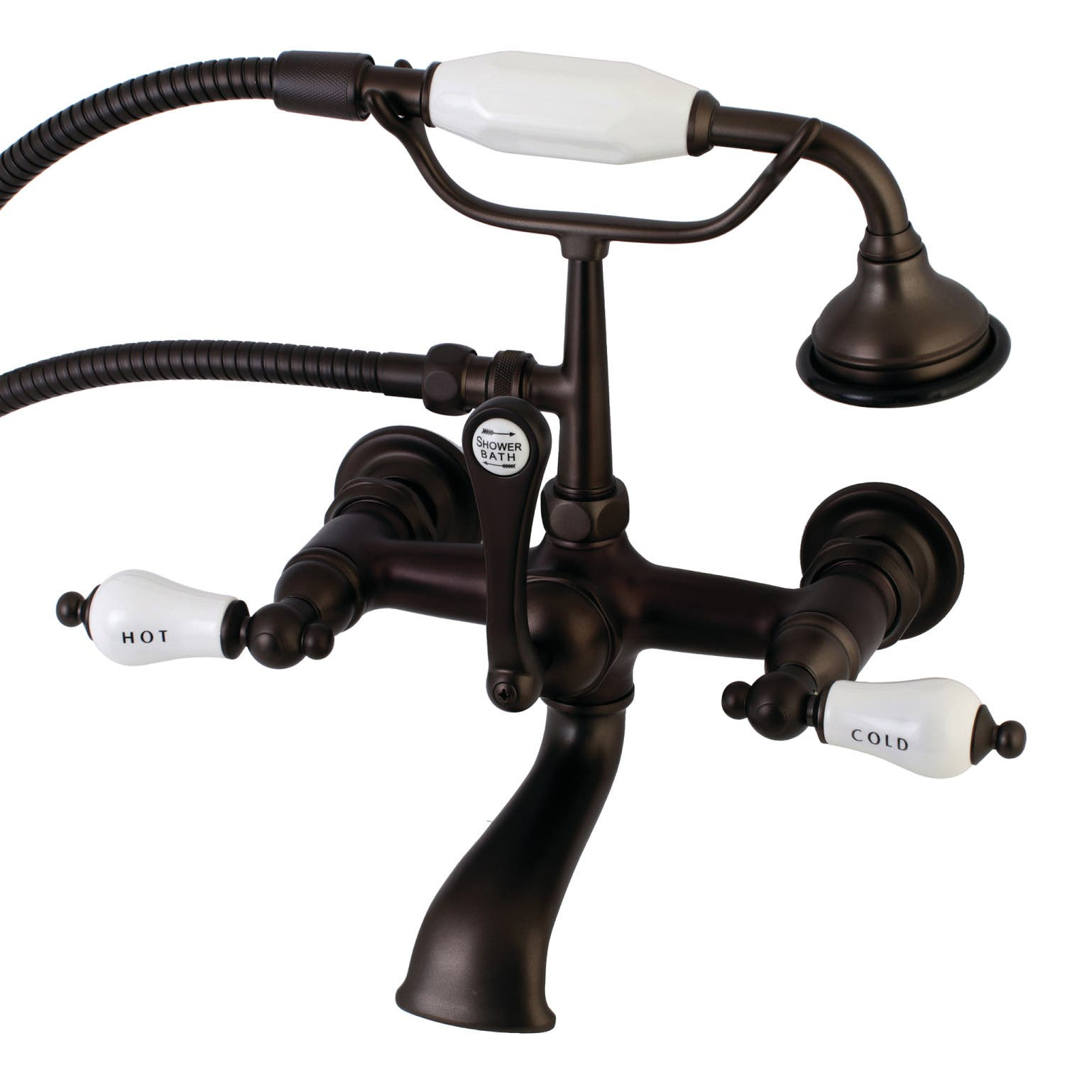 Aqua Vintage AE555T5 Clawfoot Tub Faucet with Hand Shower, Oil ...