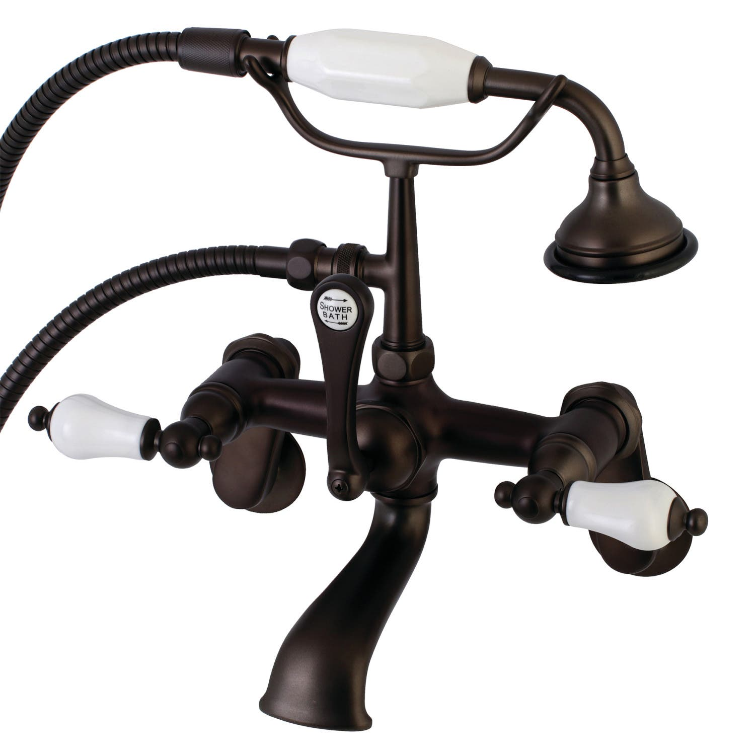 Aqua Vintage AE55T5 Clawfoot Tub Faucet with Hand Shower, Oil Rubbed ...
