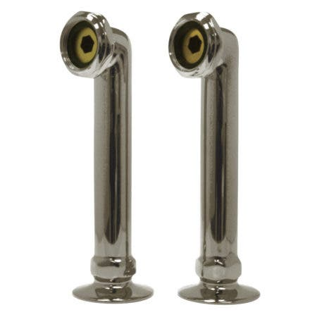 "Aqua Vintage AE6RS8 6"" Deck Mount Riser for Faucet, Brushed Nickel"