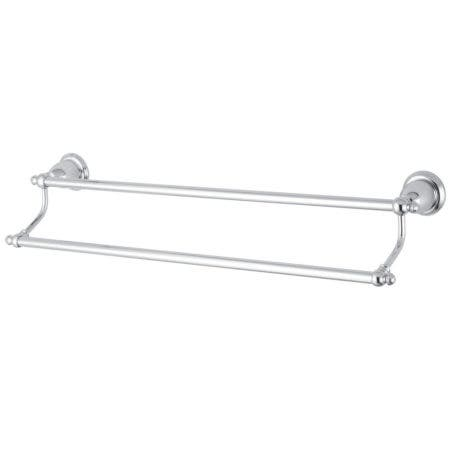 "Kingston Brass BA7973C English Vintage 24"" Dual Towel Bar, Polished Chrome"