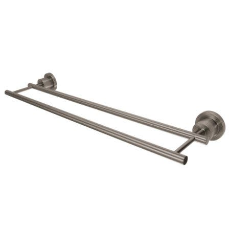 "Kingston Brass BA8213SN Concord 24"" Dual Towel Bar, Brushed Nickel"