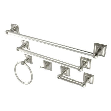 Kingston Brass BAHK3212478SN 5-Piece Bathroom Accessory Set, Brushed Nickel