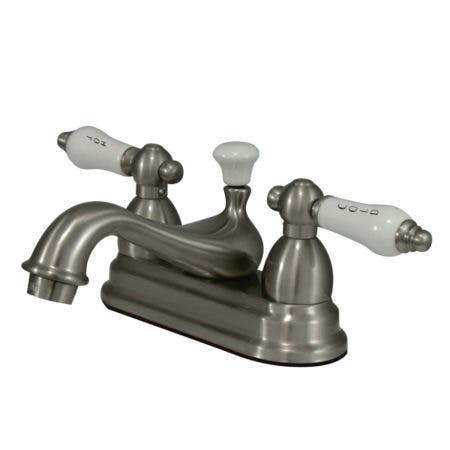 Kingston Brass CC13L8 4 in. Centerset Bathroom Faucet, Brushed Nickel