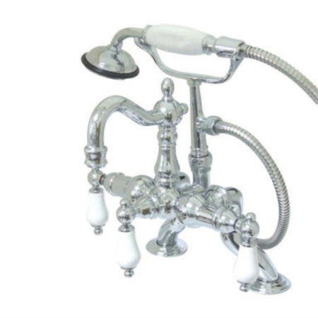 Kingston Brass CC1013T5 Heritage Vintage 3-3//8-Inch Leg Tub Filler with Hand Shower Oil Rubbed Bronze
