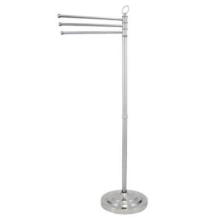 Kingston Brass CC2021 Pedestal Towel Bar, Polished Chrome
