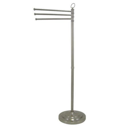 Kingston Brass CC2028 Vintage Pedestal Towel Bar, Brushed Nickel