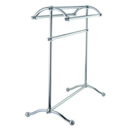 Kingston Brass CC2291 Pedestal Towel Rack, Polished Chrome