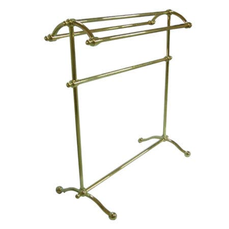 Kingston Brass CC2292 Pedestal Towel Rack, Polished Brass