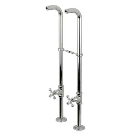 Kingston Brass CC266S1AX Freestanding Supply Line Package, Polished Chrome