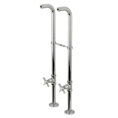 Kingston Brass CC266S1BEX Freestanding Supply Line Package, Polished Chrome