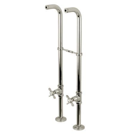 Kingston Brass CC266S6BEX Freestanding Supply Line Package, Polished Nickel