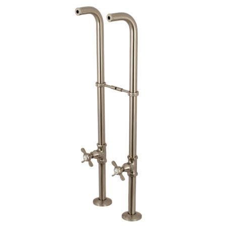 Kingston Brass CC266S8BEX Freestanding Supply Line Package, Brushed Nickel