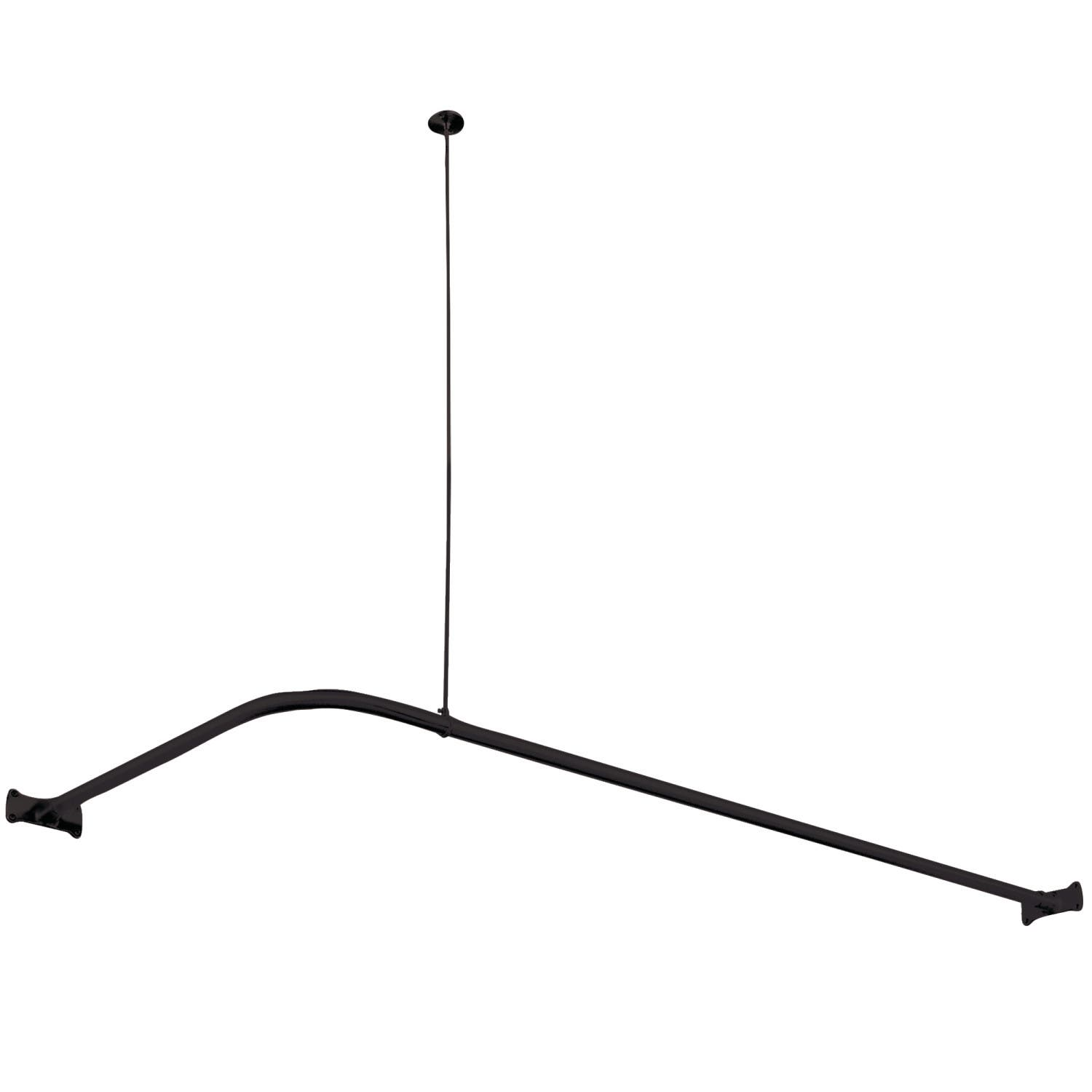 Kingston Brass CC3140 L Shaped Shower Curtain Rod Matte Black
