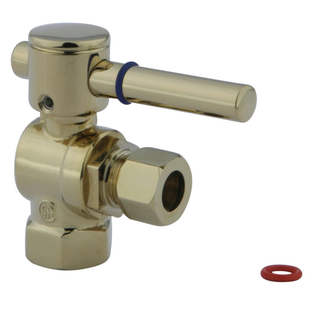 "Fauceture CC33102DL 3/8"" IPS, 3/8"" O.D. Compression Angle Valve, Polished Brass"