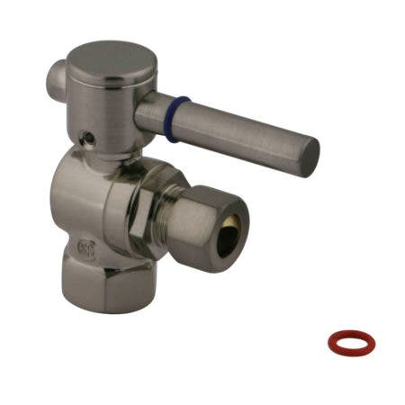 """Fauceture CC33108DL 3/8"""" IPS, 3/8"""" O.D. Compression Angle Valve, Brushed Nickel"""