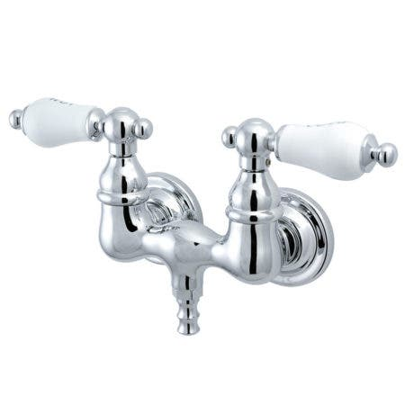 "Kingston Brass CC34T1 Vintage 3-3/8"" Wall Mount Tub Filler, Polished Chrome"