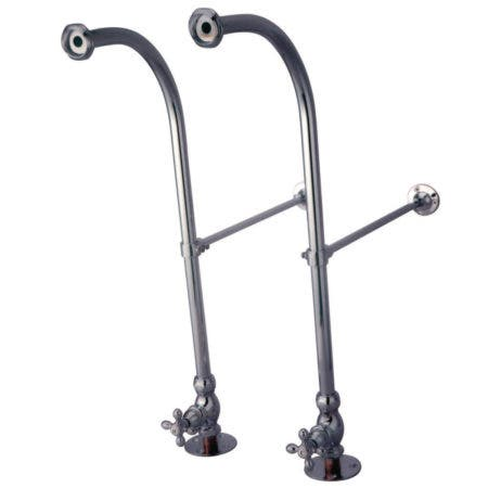 Kingston Brass CC451MX Rigid Freestand Supplies with Stops, Polished Chrome