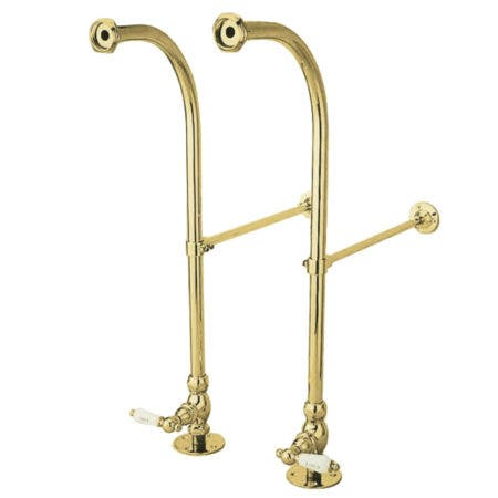 Kingston Brass CC452HCL Rigid Freestand Supplies with Stops, Polished Brass