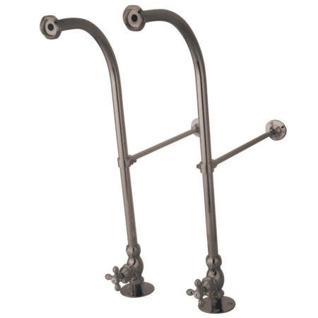Kingston Brass CC458MX Rigid Freestand Supplies with Stops, Brushed Nickel