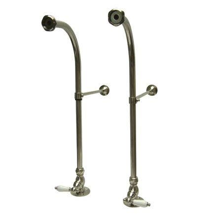 Kingston Brass CC458PL Rigid Freestand Supplies with Stops, Brushed Nickel