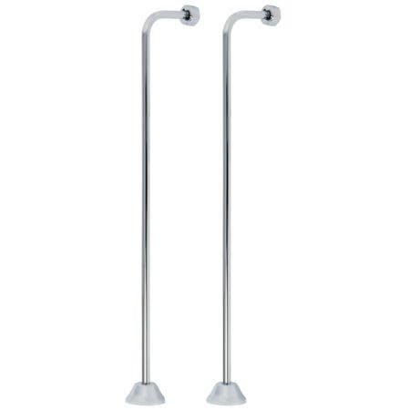 Kingston Brass CC461 Single Offset Bath Supply, Polished Chrome