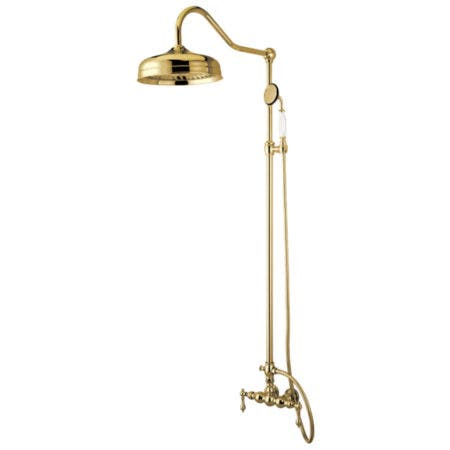Kingston Brass CCK6172 Rain Drop Shower Combo, Polished Brass