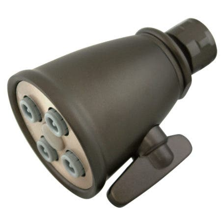 "Kingston Brass CK137A5 Victorian 2-1/4"" Adjustable Jet Brass Shower Head, Oil Rubbed Bronze"