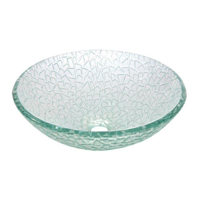 Fauceture Cv1616rcc Nordica 5 8 Round Tempered Glass Vessel Sink