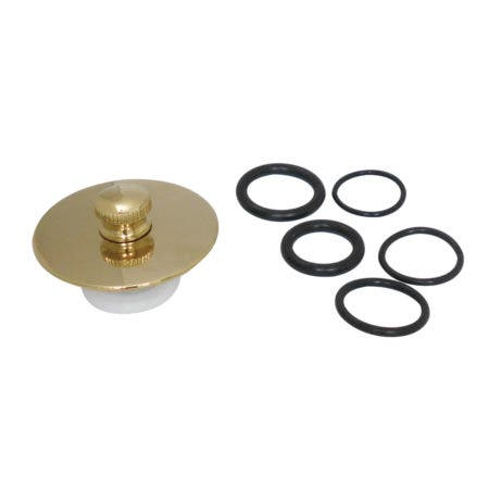 Kingston Brass DTL5304A2 Quick Cover-Up Tub Stopper, Polished Brass