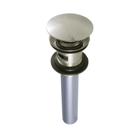 Kingston Brass EV6006 Push Pop-Up Drain with Overflow Hole, 22 Gauge, Polished Nickel