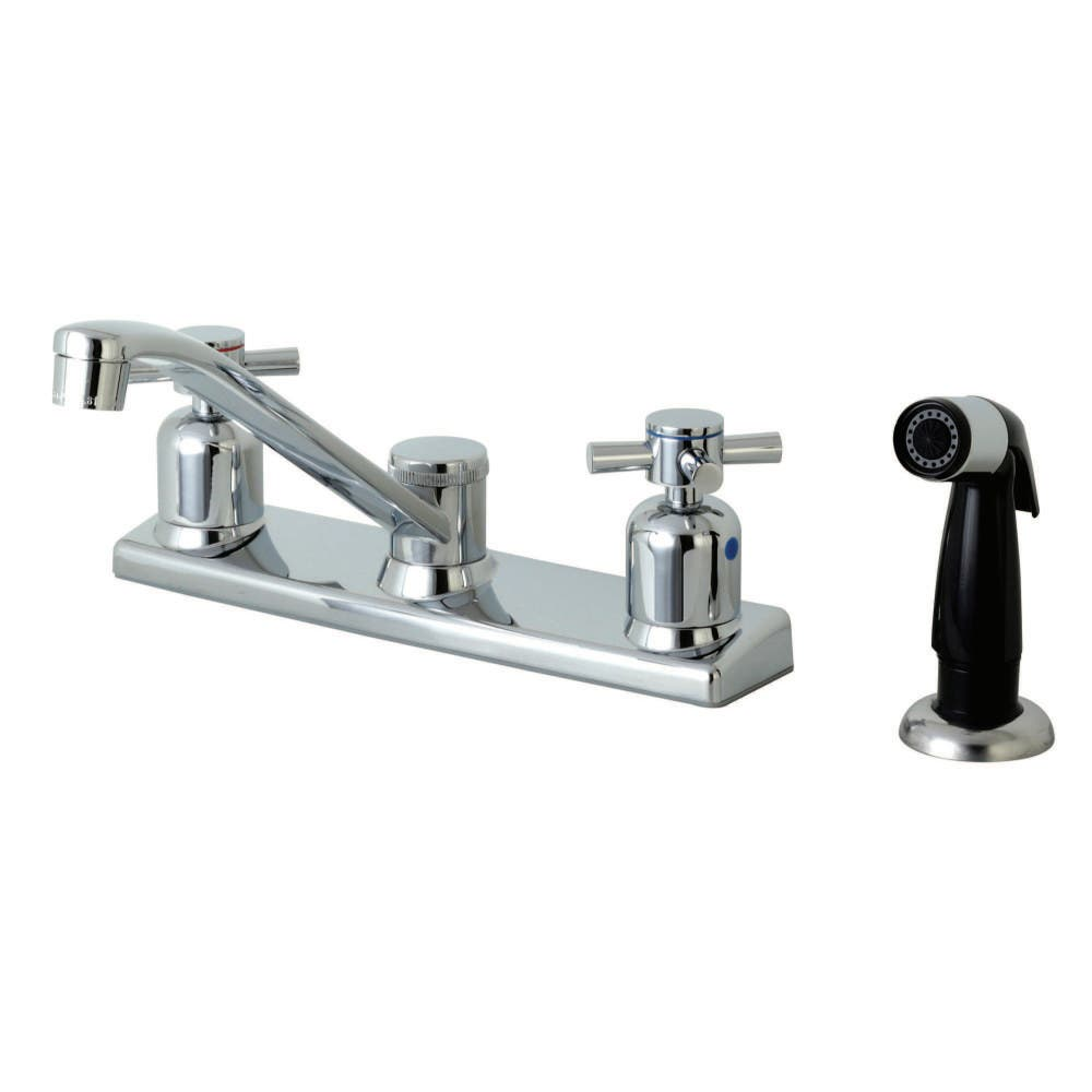 Kingston Brass Fb122dx Concord Two Handle 4 Hole Deck Mounted 8
